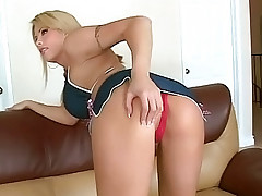 Blonde hottie getting her plump ass nailed