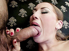 Hot HD movie with busty blonde Dolce swallowing a big cock and taking it hard in her pussy