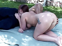 Pretty model Kylie hooked up with a horny guy outdoors and got heaps of ass pounding