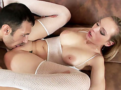 Raunchy HD porn with Polina taking a juicy dick in her cooze and gets tittie fucking