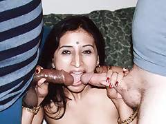 Intense ethnic sex with a lovely Indian woman named Gupet having a threesome on cam