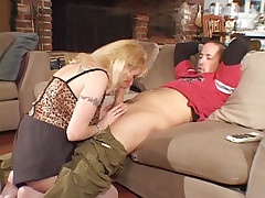 Intense hardcore scene with hot MILF Lexxy Foxx bouncing her pussy on top of a raging meat pipe