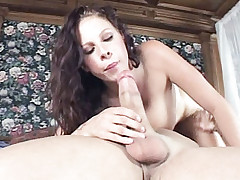 Hot and horny Gianna moaning while getting pounded as her big tits bounce some more