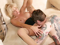 Blonde MILF Lexi Carrington gets her ripe pussy licked and dicked by a handsome younger guy