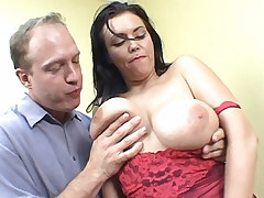 Angelica Sin lets her big tits hang out as she gets dicked hard and good in this sex video