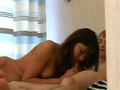 Horny couple having crazy sex