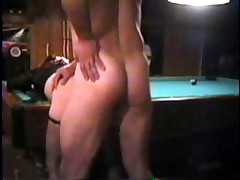 MILF gets bent over a pool table and fucked deep