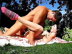 Hot and horny teen picnic gets crazy