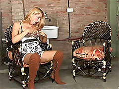 Hot and hung tgirl gets fucked hard