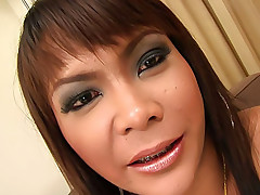 Exotic ladyboy Liccy beats her meat for a cumshot