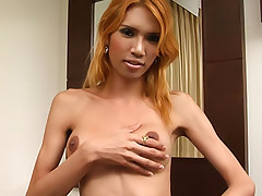 Watch wicked Thai tranny wank 2-handed