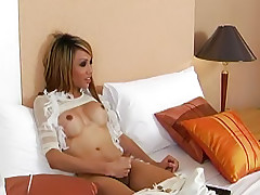 Hot-assed ladyboy Fern in steamy oral two-way play